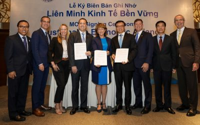 LABC Signs Economic Agreement With American Chamber of Commerce in Vietnam