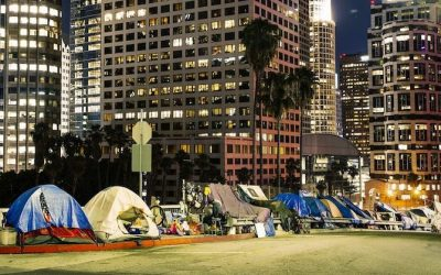Who sponsored the poll on homelessness?